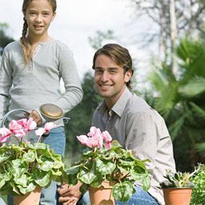 el jardin en familia