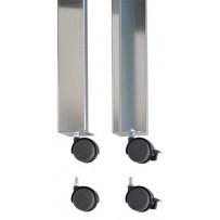 Kit de ruedas para mesa metálica 75 x 50