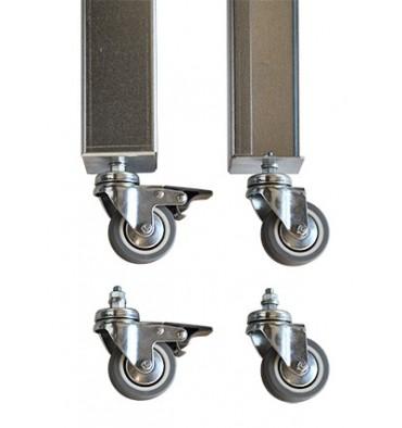 kit de ruedas para mesa metálica 150 cm - puntojardin.com - Ruedas Para Mesa