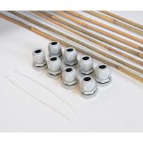 Kit cañas de bambú mesa metálica