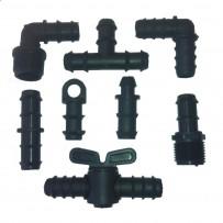 Accesorios tubería PE 16 mm negro