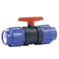 Válvula de bola de PVC con extremos PE-PE