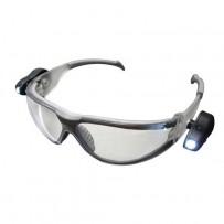 Gafas protección EN166 con luz led neutra