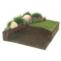Bordura de acero galvanizado para jardines