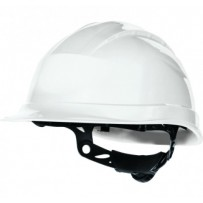 Casco de obra ajustable blanco