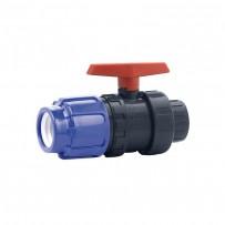Válvula de bola de PVC con extremos PE-Rosca Hembra