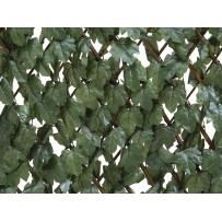 Celosía extensible de mimbre con hojas