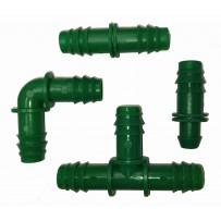 Accesorios tubería PE 16 mm acetal verde