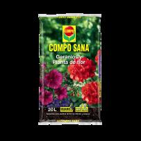 Sustrato COMPO SANA geranios y planta flor