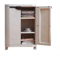 Armario bajo 2 estantes color gris
