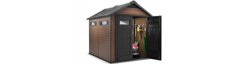 Casetas composite para exterior for Casetas para almacenaje exterior
