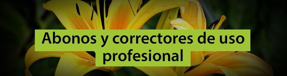 Abonos y correctores de uso profesional